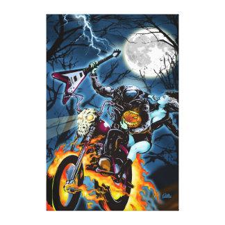 Headless Biker Horseman Canvas Print