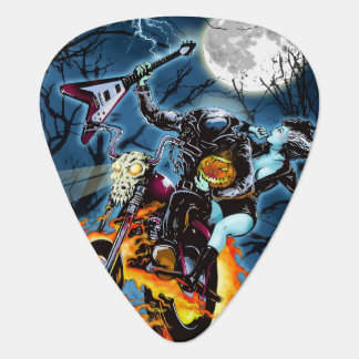 Headless Biker Horseman Guitar Pick