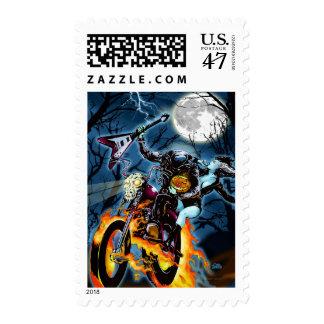 Headless Biker Horseman Postage