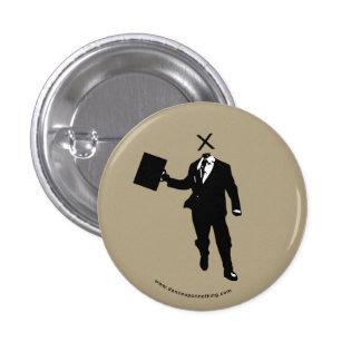 headless businessman button