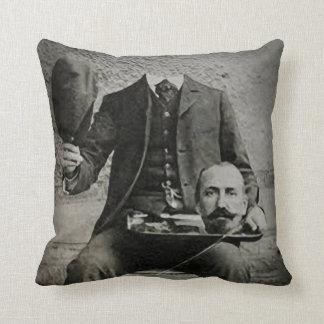 Headless Chap, Creepy Portrait Throw Pillow