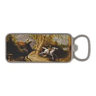 Headless Horseman Chasing Ichabod Crane Magnetic Bottle Opener