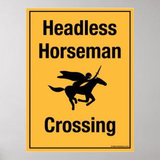 Headless Horseman Crossing Print