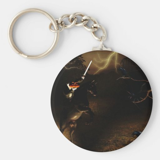 Headless horseman Halloween key chain