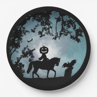 Headless Horseman Halloween Party Paper Plates