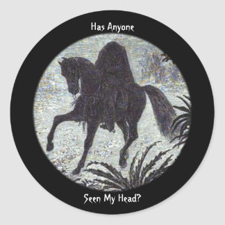 Headless Horseman Has Anyone Seen My Head? Sticker