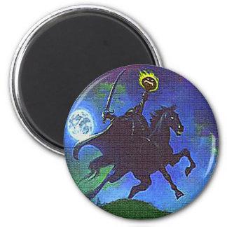 Headless Horseman in the Blue Light 2 Inch Round Magnet
