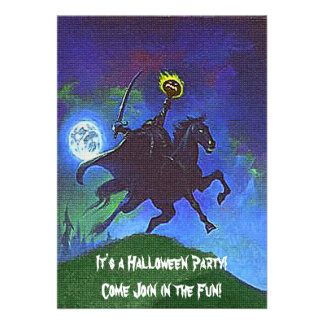 Headless Horseman in the Blue Light Personalized Invitation