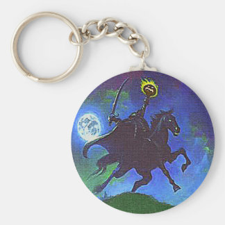 Headless Horseman in the Blue Light Key Chain