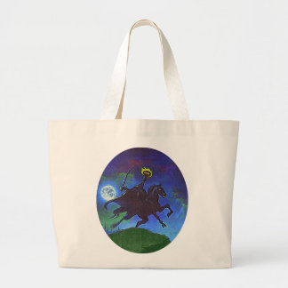 Headless Horseman in the Blue Light Large Tote Bag