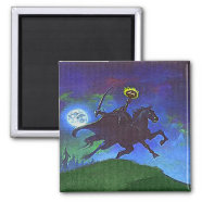 Headless Horseman in the Blue Light Refrigerator Magnet