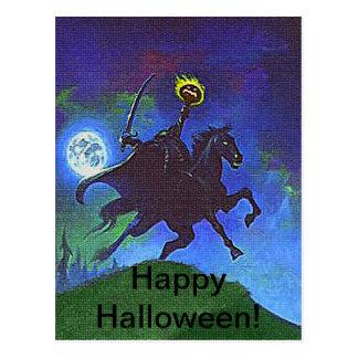 Headless Horseman in the Blue Light Postcard
