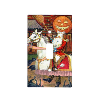 Headless Horseman Jack O Lantern Black Cat Light Switch Cover