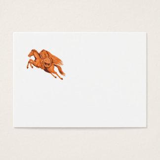 Headless Horseman Pumpkin Head Drawing Business Card