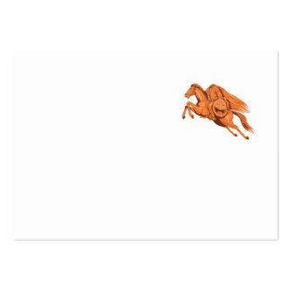Headless Horseman Pumpkin Head Drawing Large Business Card