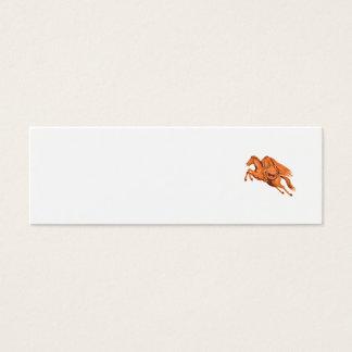 Headless Horseman Pumpkin Head Drawing Mini Business Card