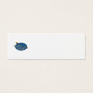 Headless Horseman Pumpkin Head Horse Oval Drawing Mini Business Card