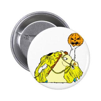 headless horseman pumpkin head yellow pin