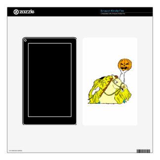 headless horseman pumpkin head yellow kindle fire skins