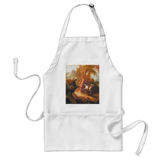 Headless Horseman Pursuing Ichabod Crane Aprons