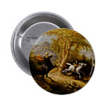 Headless Horseman Pursuing Ichabod Crane Button