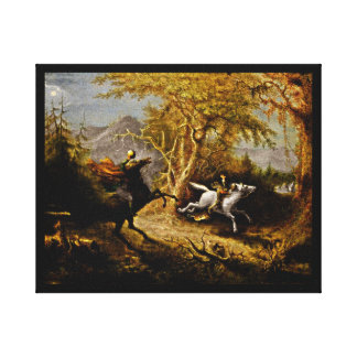 Headless Horseman Pursuing Ichabod Crane Stretched Canvas Print