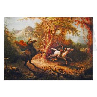 Headless Horseman Pursuing Ichabod Crane Card