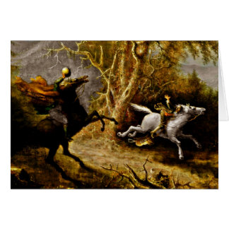 Headless Horseman Pursuing Ichabod Crane Card