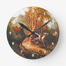 Headless Horseman Pursuing Ichabod Crane Clock