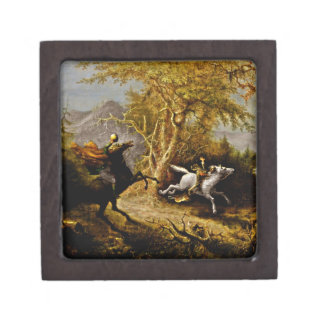 Headless Horseman Pursuing Ichabod Crane Keepsake Box
