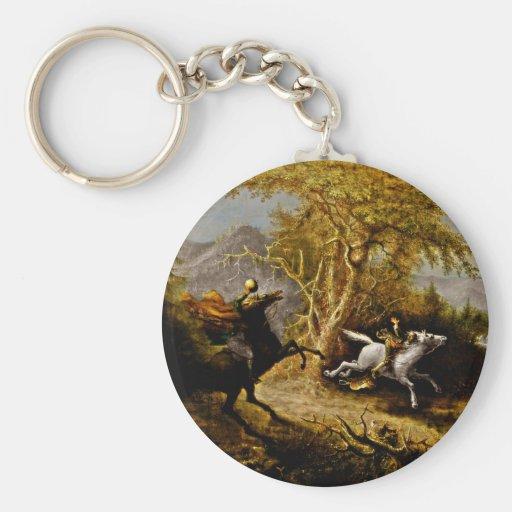Headless Horseman Pursuing Ichabod Crane Keychains