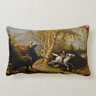 Headless Horseman Pursuing Ichabod Crane Lumbar Pillow
