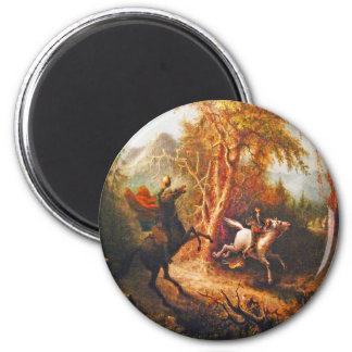 Headless Horseman Pursuing Ichabod Crane Magnet