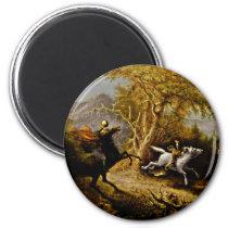 Headless Horseman Pursuing Ichabod Crane Magnet