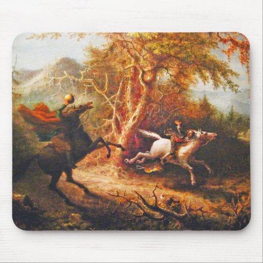 Headless Horseman Pursuing Ichabod Crane Mouse Pad