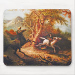 Headless Horseman Pursuing Ichabod Crane Mousepad