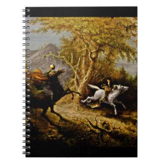 Headless Horseman Pursuing Ichabod Crane Notebook