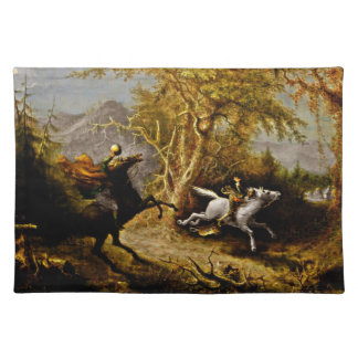 Headless Horseman Pursuing Ichabod Crane Placemat
