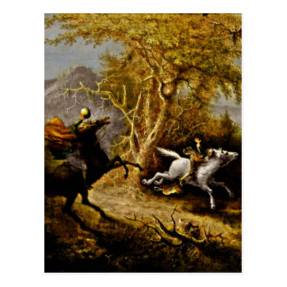 Headless Horseman Pursuing Ichabod Crane Postcard