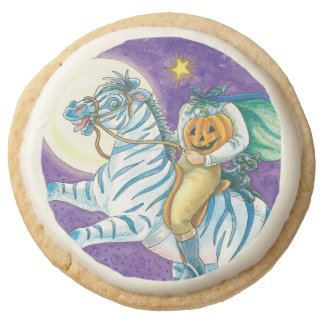 Headless Horseman Round Shortbread Cookie