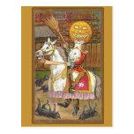Headless Horseman Victorian Vintage Art Post Cards