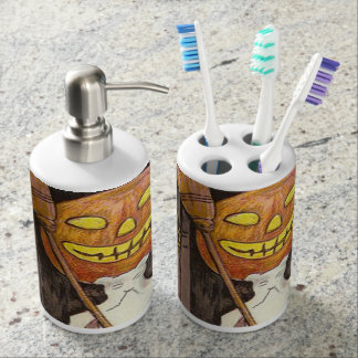 Headless Jack O'Lantern Trick R' Treat Bathroom Set