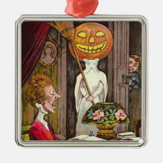Headless Jack O'Lantern Trick R' Treat Metal Ornament