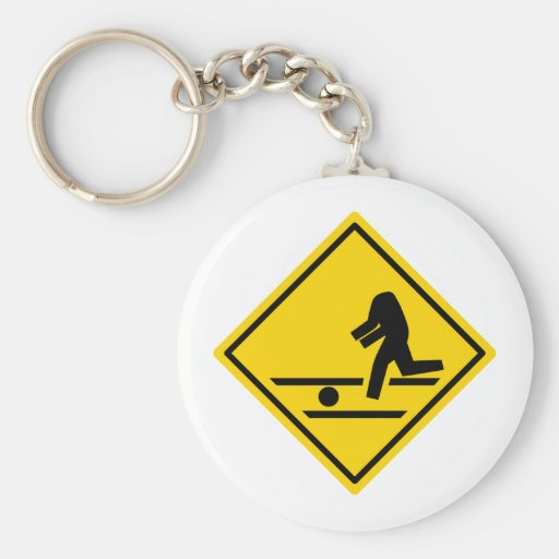 Headless Pedestrian Crossing Keychains