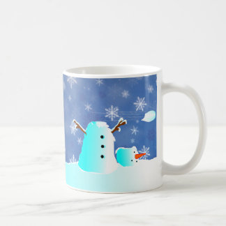 Headless snowman! Naughty penguin! Coffee Mug