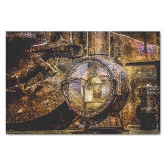 "Headlight Of The Vintage Steam Train 10"" X 15"" Tissue Paper"