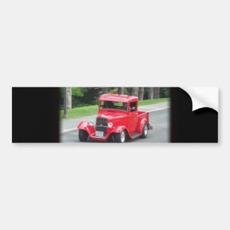 Headlights and grill on vintage classic pickup bumper sticker