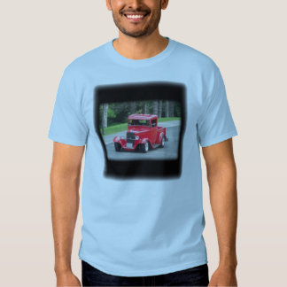 Headlights and grill on vintage classic pickup shirt