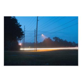 Headlights On Photo Print