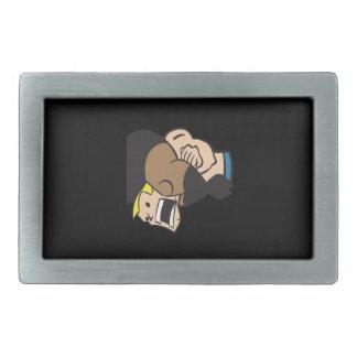 Headlock 2 rectangular belt buckles